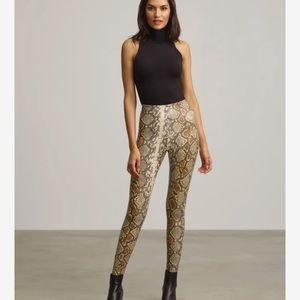 NWT faux leather animal leggings